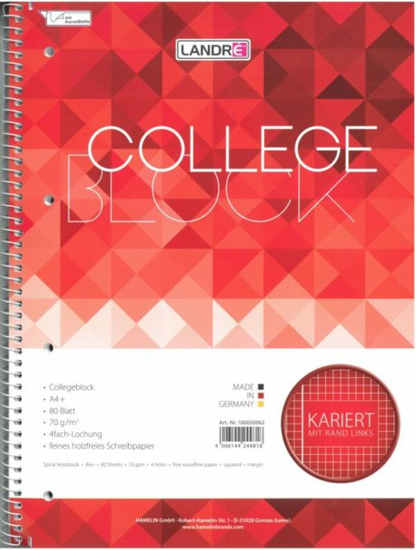 Collegeblock - Nr. 28 - kariert