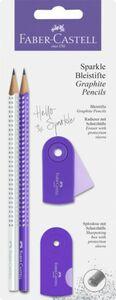 Faber-Castell - Bleistiftset - Sparkle - lila/weiß - 4 tlg.
