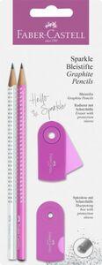 Faber-Castell - Bleistiftset - Sparkle - pink/weiß - 4 tlg.