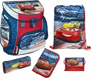 Scooli Schulranzen Set - Cars - Campus Fit - 5-teilig