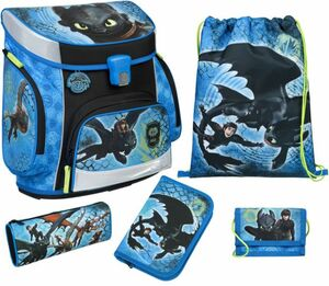 Scooli Schulranzen Set - Dragons - Campus Fit - 5-teilig
