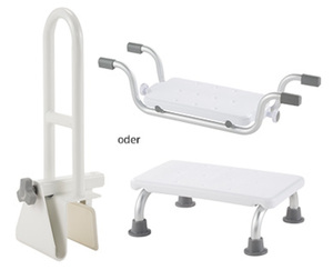 Badewannensitz, Badewanneneinstiegshilfe oder Steighilfe