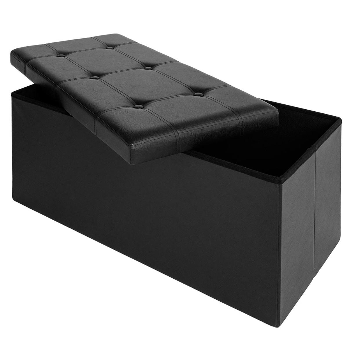Bild 3 von Deuba Faltbare Sitzbank/Sitzhocker MDF schwarz