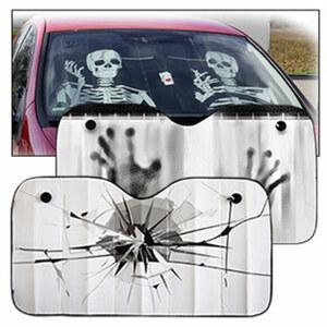 Frontscheibenabdeckung gegen den Hitzestau im Auto, universell passend, Maße ca. 130 x 70 cm, versch. Designs, je