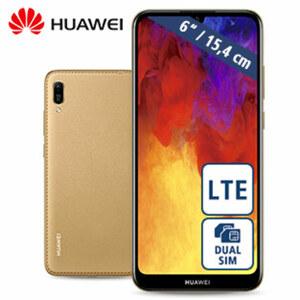 Smartphone Y6 2019 · 2 Kameras (13 MP/8 MP) · 2-GB-RAM, 32-GB-interner-Speicher · microSD™-Slot für bis zu 512-GB · nanoSIM · Android™ 9.0
