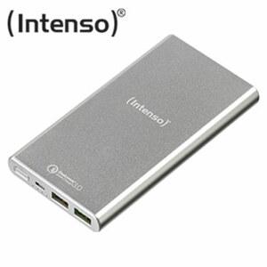 Powerbank Q10000 · stabiles Metallgehäuse · unterstützt Quick Charge™ 3.0 · mit Micro-USB-Ladekabel