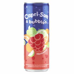 Capri-Sun & bubbles Himbeere oder Orange jede 0,33-Liter-Dose