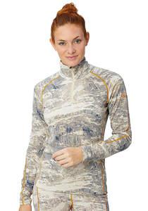 SUPER.NATURAL Base 1/4 Zip 230 Printed - Funktionsunterwäsche für Damen - Weiß