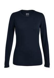 SUPER.NATURAL Base 140 - Langarmshirt für Damen - Blau