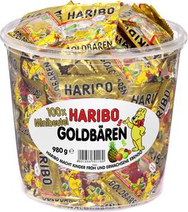 Haribo Goldbären Mini Beutel in Runddose, 980g