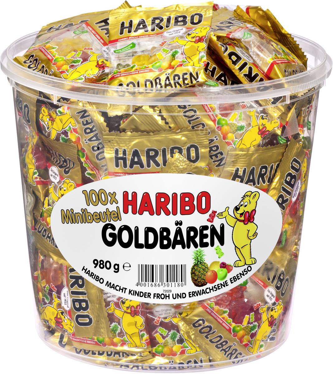Bild 1 von Haribo Goldbären Mini Beutel in Runddose, 980g