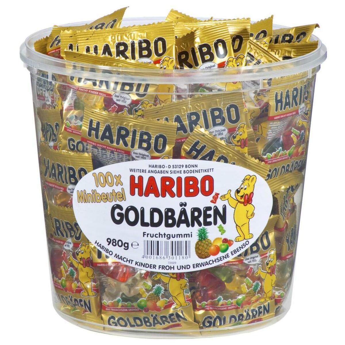 Bild 2 von Haribo Goldbären Mini Beutel in Runddose, 980g