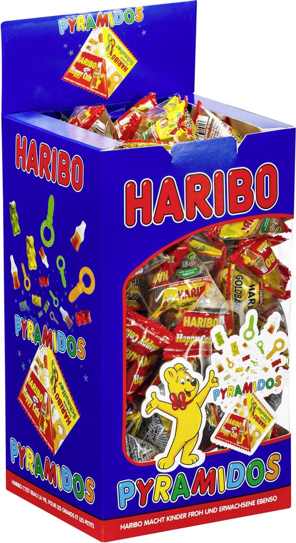 Haribo Pyramidos Fruchtgummi, Gummibärchen, Colaflaschen, Süßigkeiten, in Mini-Beuteln, 750 g