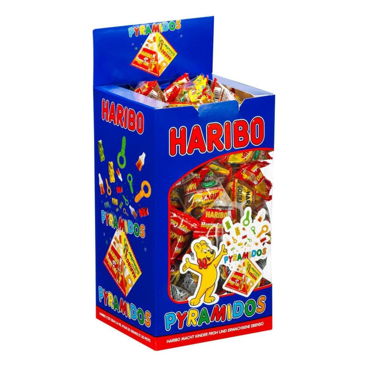 Bild 2 von Haribo Pyramidos Fruchtgummi, Gummibärchen, Colaflaschen, Süßigkeiten, in Mini-Beuteln, 750 g