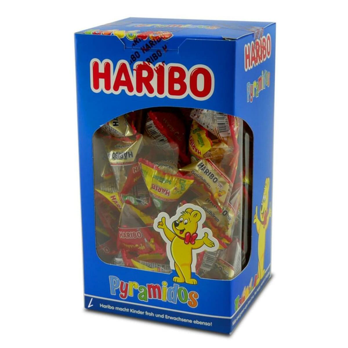 Bild 4 von Haribo Pyramidos Fruchtgummi, Gummibärchen, Colaflaschen, Süßigkeiten, in Mini-Beuteln, 750 g