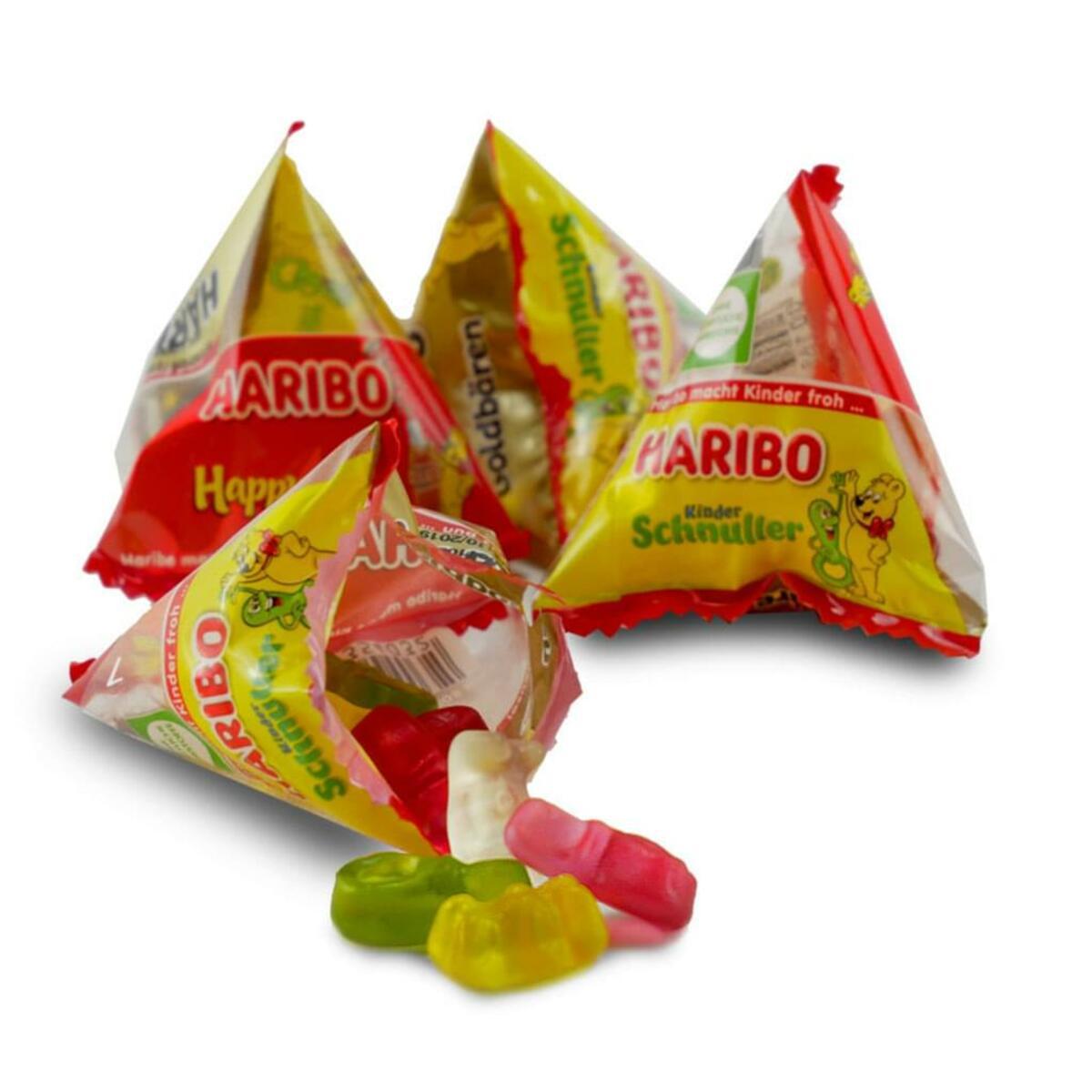 Bild 5 von Haribo Pyramidos Fruchtgummi, Gummibärchen, Colaflaschen, Süßigkeiten, in Mini-Beuteln, 750 g