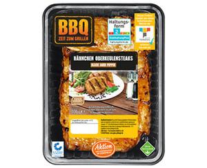 BBQ Hähnchen Oberkeulensteaks