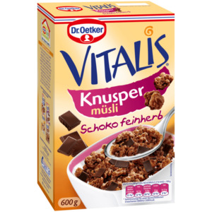 Dr. Oetker Vitalis Knusper Schoko feinherb 600g