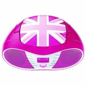 BigBen - Tragbarer CD/Radio Player DC58 Union Jack, pink