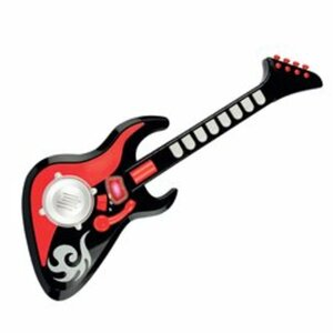 Big Steps - Coole Soundgitarre in Schwarz-Rot