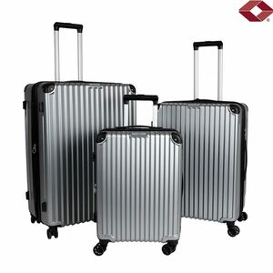 Reisekoffer-Set Business Line Silber 3-teilig