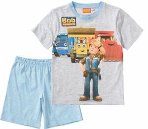 Bob der Baumeister Schlafanzug blau/grau Gr. 92/98 Jungen Kleinkinder