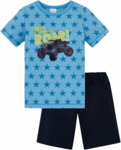 Schlafanzug , Sterne hellblau Gr. 98 Jungen Kleinkinder