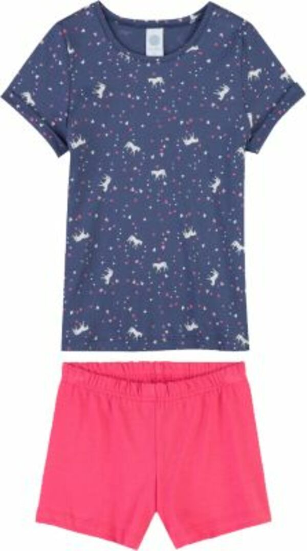 Schlafanzug blau Gr. 92 Mädchen Kleinkinder
