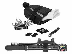 CRIVIT® Fahrrad-Werkzeugtasche / Mini-Luftpumpe