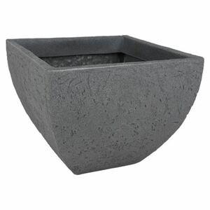 Eckiger Pflanztopf Stone 40x40cm Grau