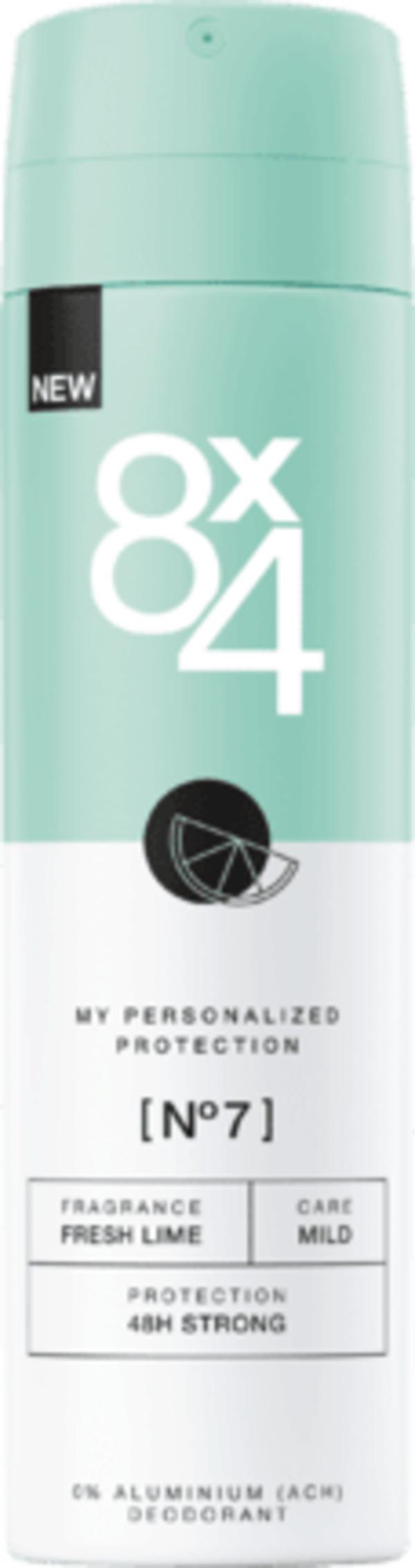 8x4 women Deo Spray Deodorant No.7 Fresh Lime