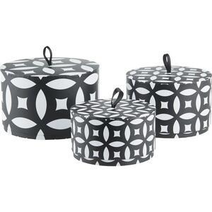 Geschenkbox Ethno Schwarz/Weiß