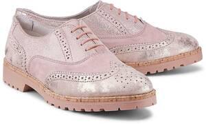 Oxford-Schnürschuh von Drievholt in rosa für Damen. Gr. 38