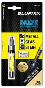 Ersatz-Kartusche 5 g für Reparaturstift Metall, Glas und Stein, hellbraun Blufixx