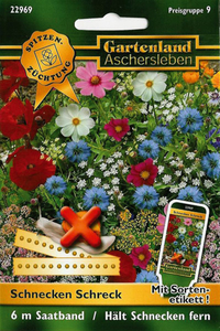 Schnecken Schreck - eine Blumenmischung gegen Schnecken - Saatband Gartenland Aschersleben