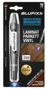Reparaturstift 5 g PW für Laminat/Parkett/Vinyl inklusive blauem LED-Licht, Eiche dunkel Blufixx
