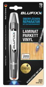 Reparaturstift 5 g PW für Laminat inklusive blauem LED-Licht, Buche Blufixx