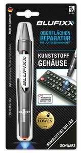 Reparaturstift 5 g PW für Kunststoffgehäuse inklusive blauem LED-Licht, schwarz Blufixx