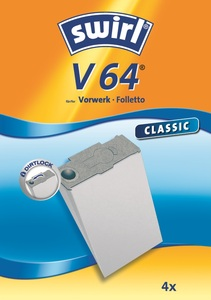 Swirl Staubsaugerbeutel V64 Classic 4er Pk