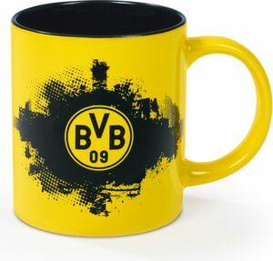 BVB Kaffeebecher 350 ml schwarz/gelb mit Logo
