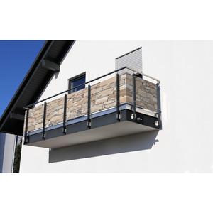 Balkonblende 5 m Mauer