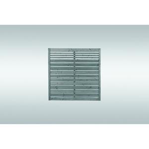 Sichtschutz NEO sägerau Abschluss, grau imprägniert