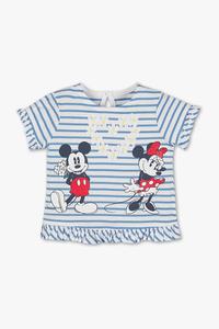 Disney - Baby-Kurzarmshirt - Bio-Baumwolle - gestreift