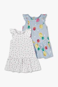 Baby Club         Baby-Kleid - Bio-Baumwolle - 2er Pack