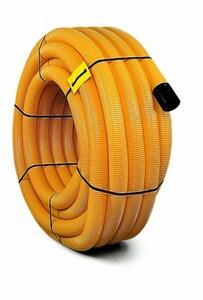 ACO Drainagerohr DN 100 ,  PVC gelocht, gelb, 10 m