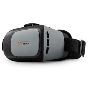 MEDION X83070 Virtual Reality Headset, geeignet für die meisten 4,0'' bis 6,0'' Smartphones, flexibler Kopfgurt, einstellbarer Fokus
