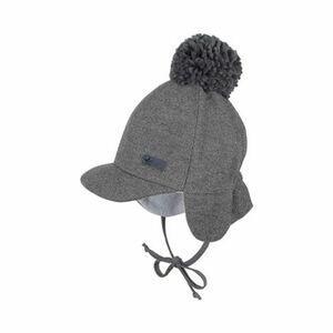 Wintermütze mit Schild grau