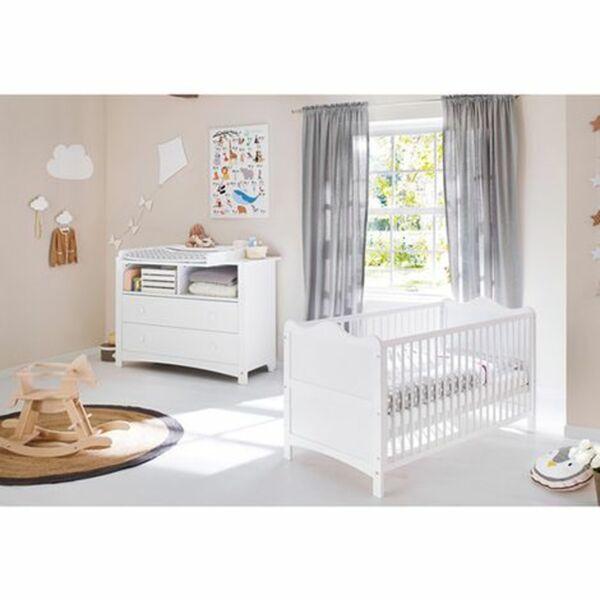 2-tlg. Babyzimmer Florentina extrabreit