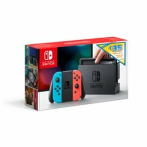 Nintendo - Switch: Konsole, Neon rot/blau + 35€ eShop Voucher