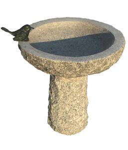Dehner Granit-Vogeltränke, ca. Ø35/H40 cm